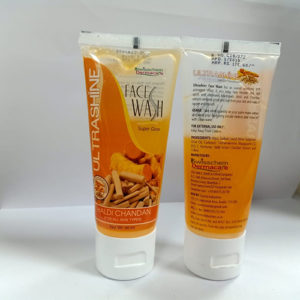 ultrashine haldi chandan face wash